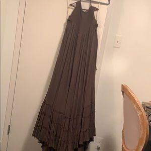 free people boho halter maxi dress